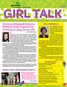 Girl Scouts newsletter