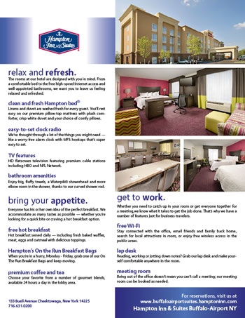Flier for Hampton Inn