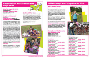Girl Scouts, Camp Catalog design