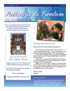 newsletter design for Vive a Buffalo, NY non-profit organization