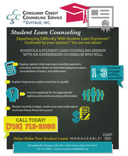 Flier for Consumer Credit Counseling Services