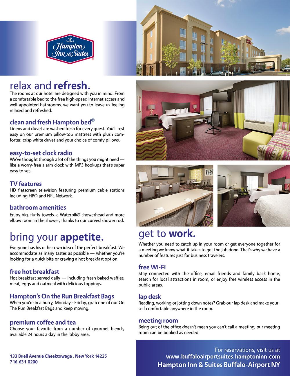 Hampton Inn flyer design