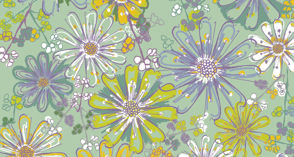 pattern floral meadow daydream by Ellen Morse Originals