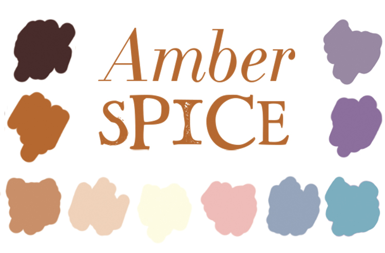 Amber Spice color swatches by Ellen Morse